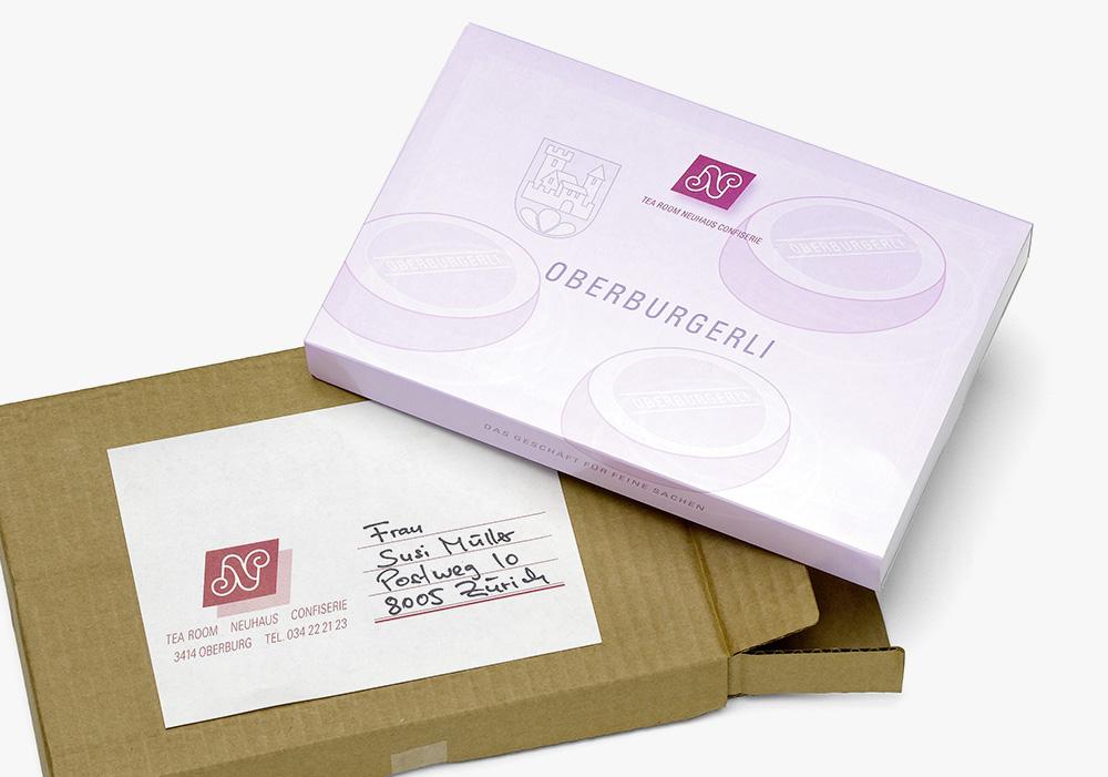 Oberburgerli – Das ideale Geschenk auch für den Postversand.